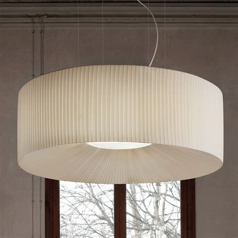 large ceiling large white pleated ceiling light