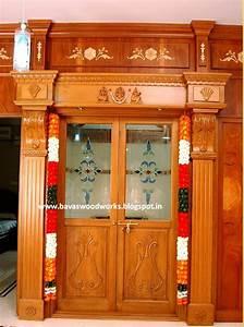 Carpenter work ideas and Kerala Style wooden decor: Pooja