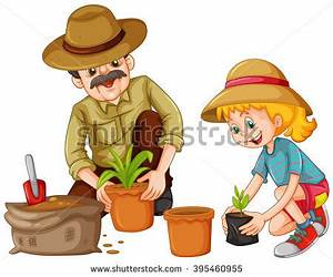 Children Planting Trees Clip Art (71+)