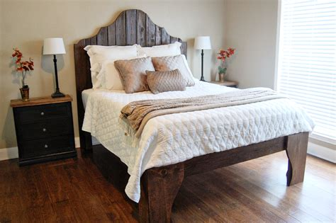 diy bed frames  give   restful spot