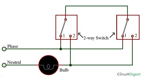 Two Way Switch Circuit Diagram Wire Method