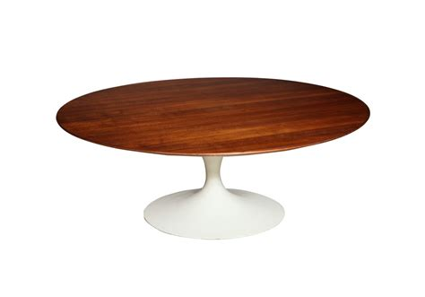 Saarinen Round Coffee Table Wood Knoll  Milia Shop