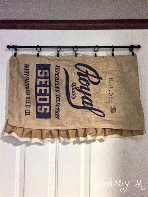 feed sack curtains farmhouse friday 13 grain sacks feed bags and burlap