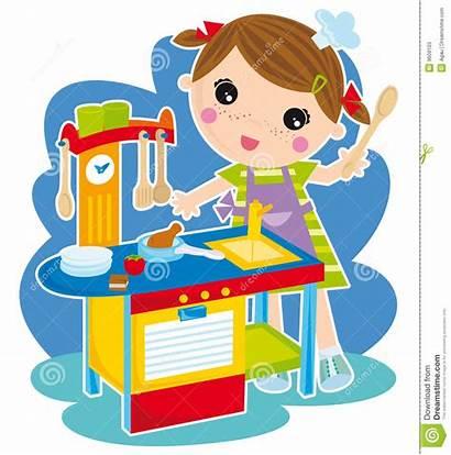 Kitchen Cooking Clipart Play Boy Illustration Het