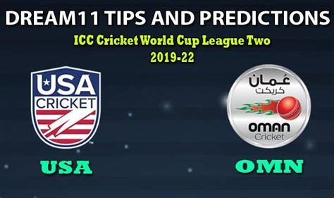 USA vs OMN Dream11 Team Prediction 5th Match, CWC League-2 ...
