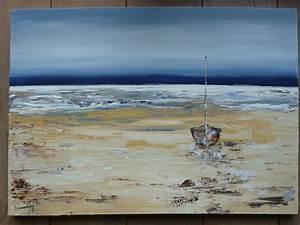 Tableaux Mer Et Plage : peinture marine acrylique au couteau fidjiscrap ~ Teatrodelosmanantiales.com Idées de Décoration