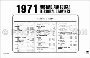 1971 Ford Mustang Mercury Cougar Factory Wiring Diagram Original