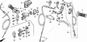 Honda Motorcycle 1992 Oem Parts Diagram For Handle Lever