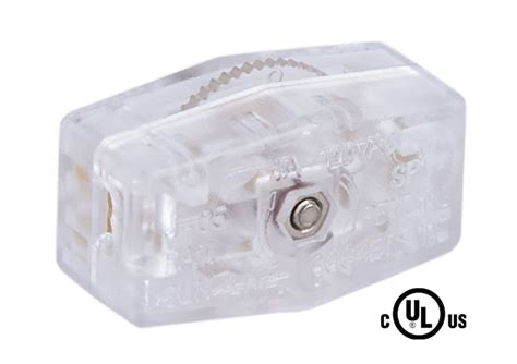 clear silver l cord clear silver inline rotary switch 48431 b p l supply