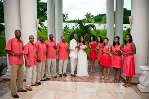 coral destination wedding color palette destination