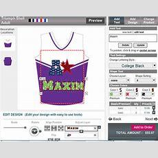 Online Sportswear Design Softwaretool To Customizing Game