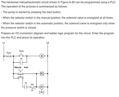 Solved The Hardwired Manual Automatic Circuit Shown