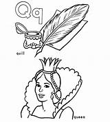 Coloring Pages Geography Quill Pattern Queen Quilling Duathlongijon Colouring sketch template