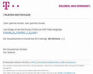 Telekom Deutschland Gmbh Rechnung : phishing mail alerts telekom rechnungonline monat mai 2014 buchungskonto 3562343830 ~ Themetempest.com Abrechnung