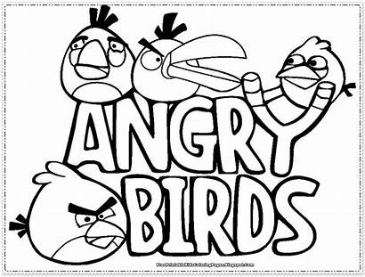 Angry Birds Coloring Pages Printable Collect Few