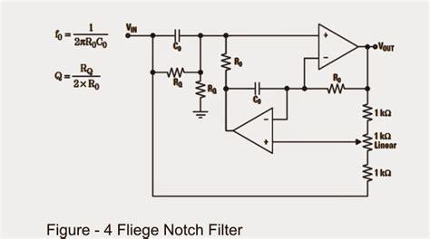 notch filter design designing notch filter circuits