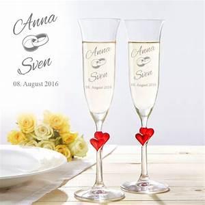 Sektgläser Hochzeit Gravur : herzen sektgl ser zur hochzeit mit wunschnamen graviert ~ Sanjose-hotels-ca.com Haus und Dekorationen
