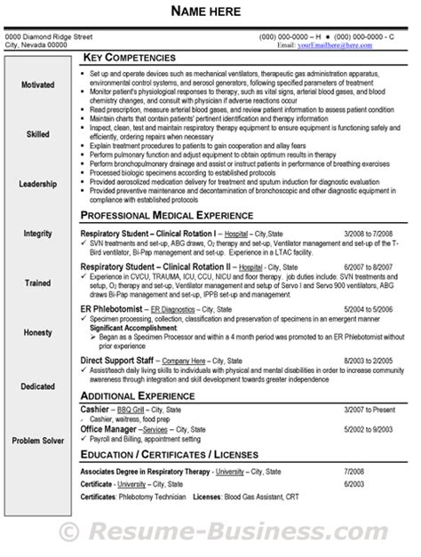 Respiratory Therapist Resume Sles by Respiratory Therapist Resume Sle Gif 530 215 702