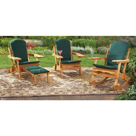 adirondack chair cushion forest green 148318 patio