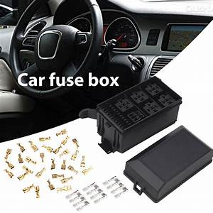 5 Road With 33 Pins Car Fuse Box 6 Relay Block Holder Fuse
