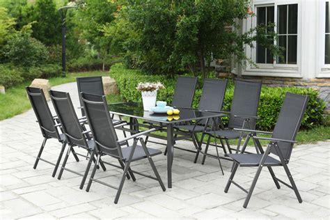table de jardin 8 personnes table de jardin 10 personnes 8 chaises en aluminium rimini concept usine
