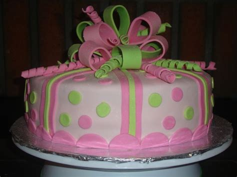 pink  lime green cakes birthday cake   year