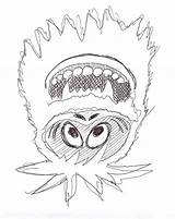 Snowman Abominable Coloring Pages Rudolph Drawing Bumble Christmas Yeti Printable Snow Monster Monsters Results Getcoloringpages Clipartmag Getdrawings sketch template