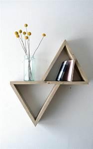 Etagere Murale Triangle : design pour tag re comment on peut choisir une tag re ~ Teatrodelosmanantiales.com Idées de Décoration