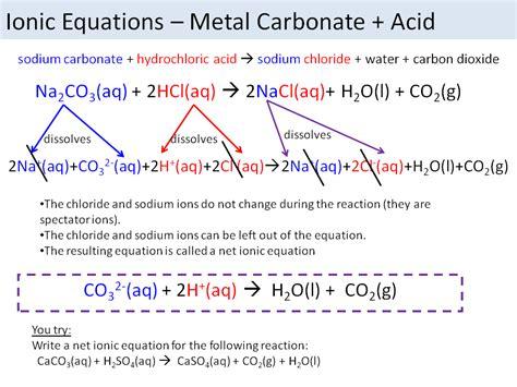 ionic salt l recall ionic equations acids and salts edexcel 9 1 combined