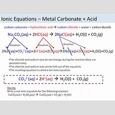 Ionic Equations Acids And Salts Edexcel 91 Combined Science By Chemistryteacher001 Teaching
