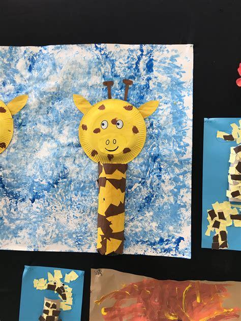 giraf knutselen dieren knutselen knutselen dieren