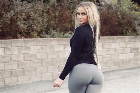 blond sexy   grey leggin booty  filearmy
