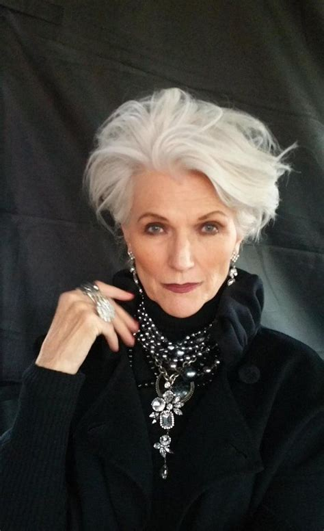 best gray hair styles 30 best maye musk images on grey hair going