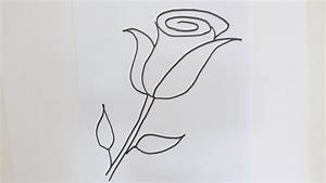 Drawing A Rose For Beginners How To Draw A Rose Flower ...