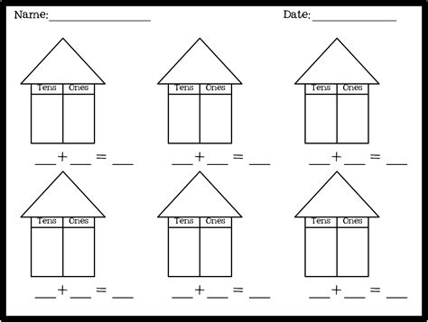 House Chart Template by 1st Grade Place Value The Brown Bag