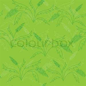 Vector Seamless Green Pattern With Green Plants