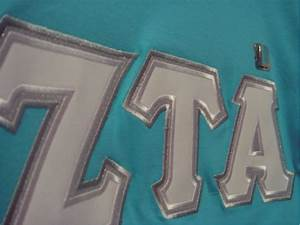 zeta tau alpha w satin stitch greek letter shirts With zta stitched letter shirts