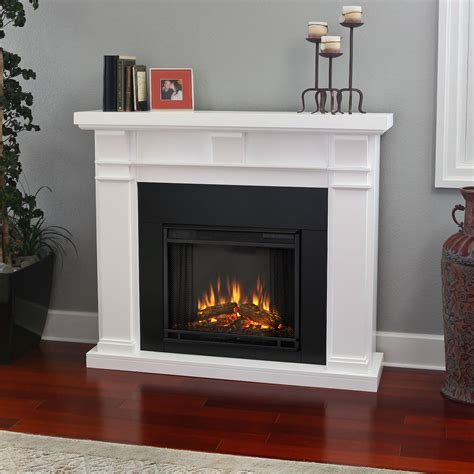 real flame porter electric fireplace  white