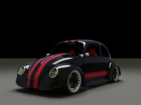 vw cars cool cool graphic of a custom beetle cars we