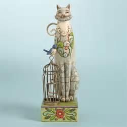 jim shore cats jim shore heartwood creek cat with bird cage