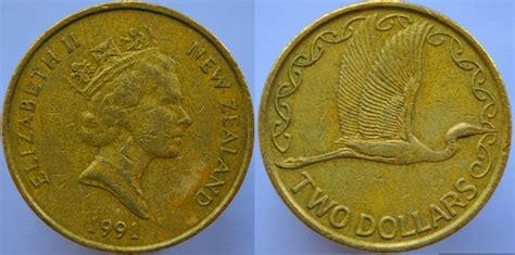 2 Dollar 1990-1998 New Zealand Bronze/aluminium Elizabeth