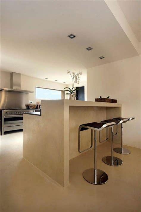 disenos cocinas revestidas cemento pulido  decoracion