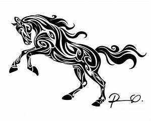 Arabian Horse Decal Tribal Tattoo Design Celtic Equine ...