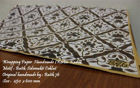 wrapping paper kertas pembungkus kado motif batik
