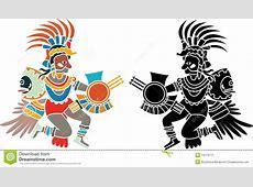 Plantilla azteca ilustración del vector Ilustración de