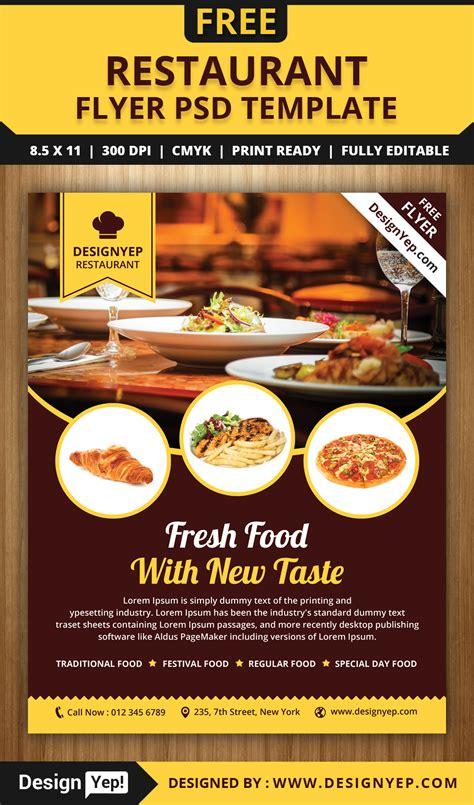 restaurant flyer psd template designyep