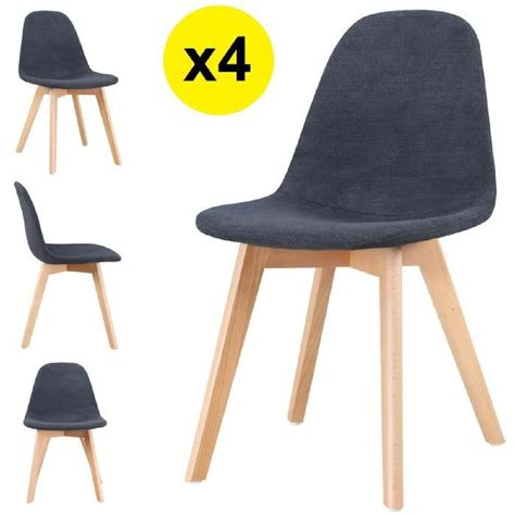 lot de 4 chaises scandinaves tissu gris fonc 233 skagen style scandinave la tendance ultime