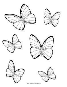 printable bookmarks  kids butterflies