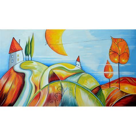 arte e cornici paesaggio moderno colorato quadri arte e cornici