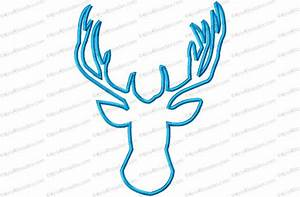 Mylar Embroidery Designs Deer Head 1 Applique Embroidery Design